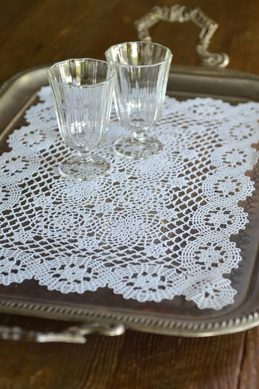 Vinyl Crochet Placematstray Cloth Masquerade