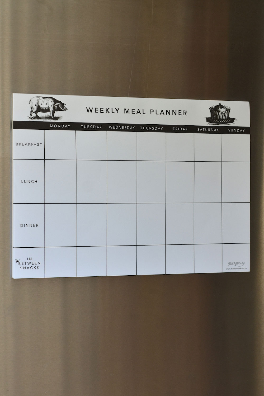 Weekly Meal Planner Masquerade
