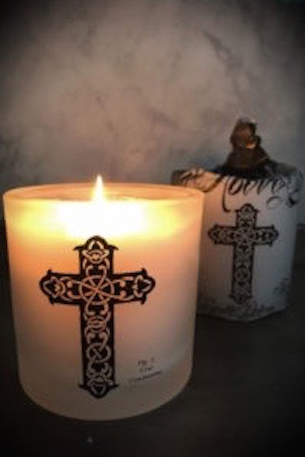 Tattoo Cross Scented Candle Masquerade