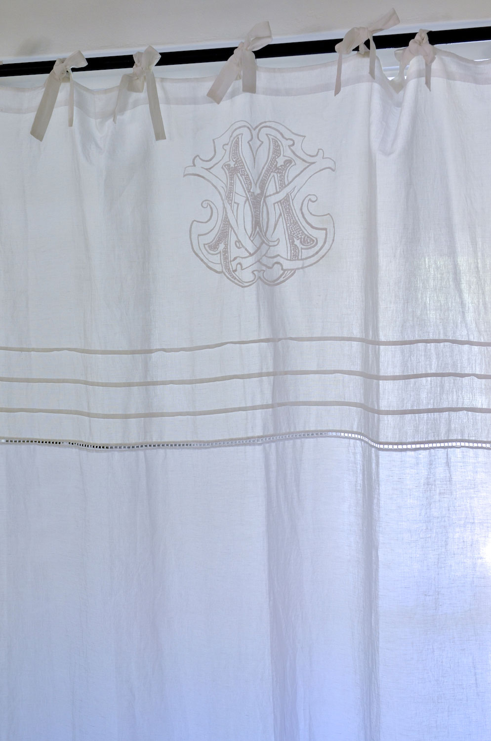 Monogram Thick Cotton Curtain Single Drop